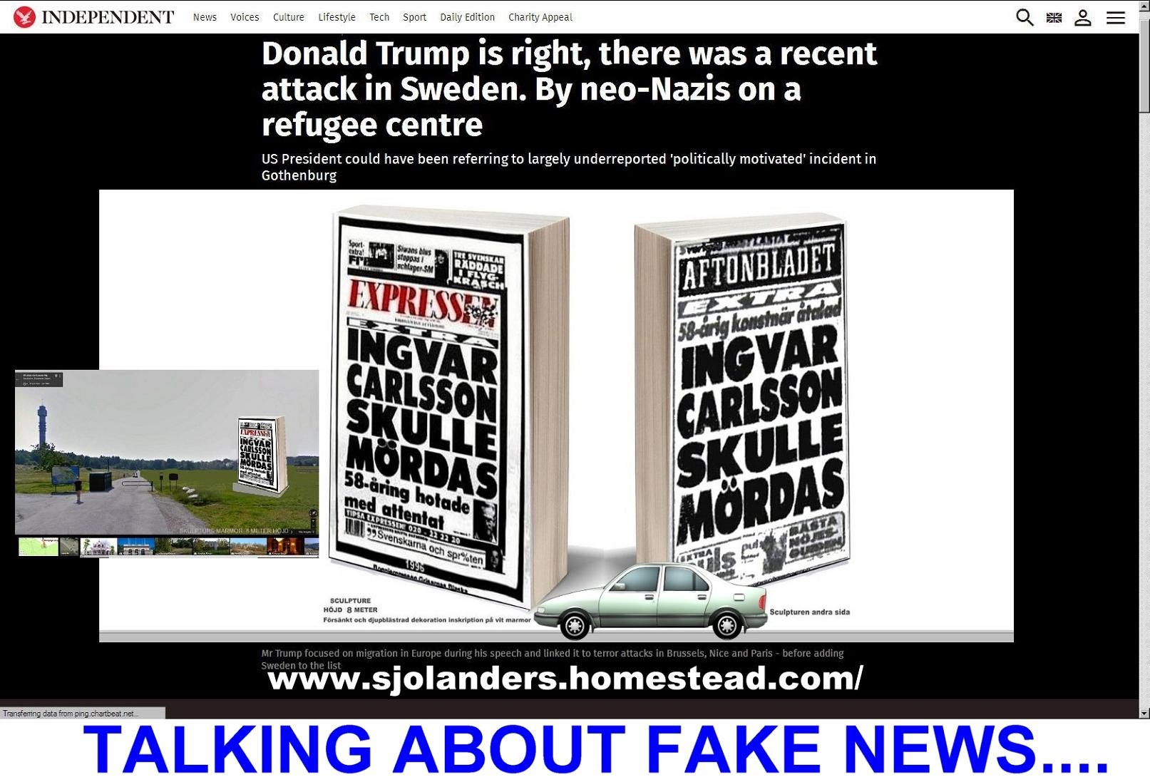 Trump Sweden Sjolander Fake News
