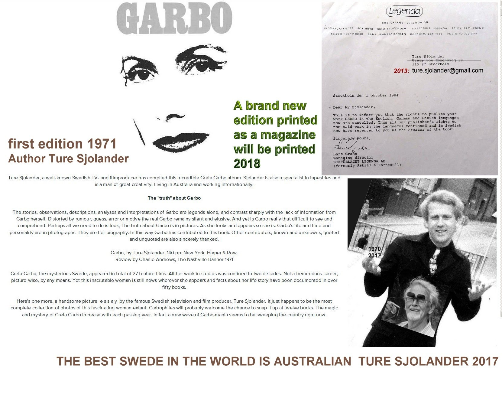 New Edition GARBO 2018 Ture Sjolander