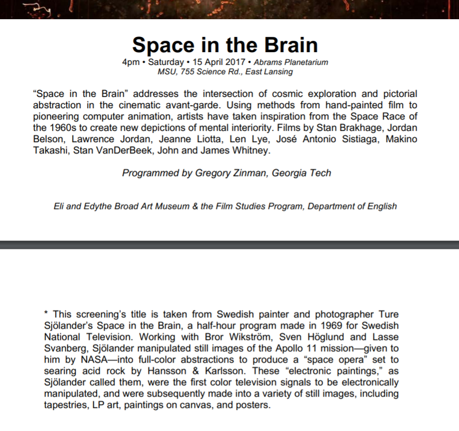 SPACE IN THE BRAIN 1969 2019  50